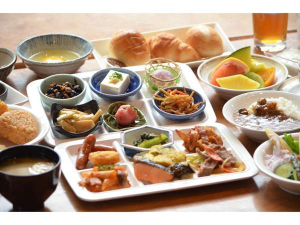 朝食バイキング/地産地消をモットーに岩手県産の食材を使用したボリューム満点の朝食