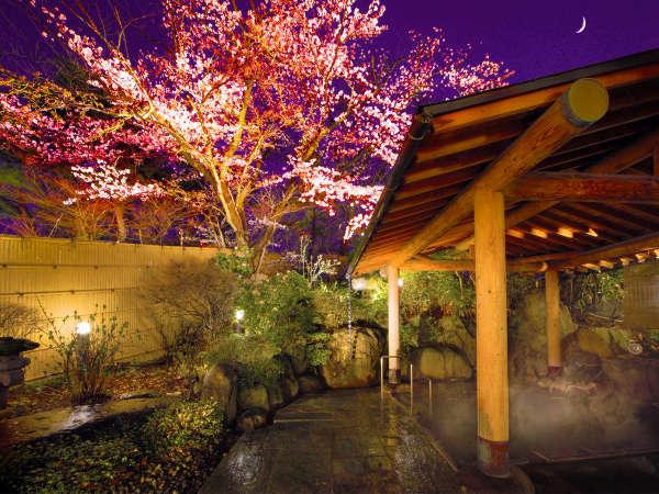 天童イチ★桜舞う夜桜風呂が有名♪いちらくの湯は肌にも優しい美肌の泉質♪