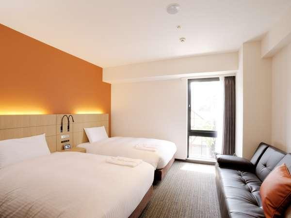 第2のマイルーム 全室ソファー付きのツインルームは23平米快適くつろぎの時をお過ごし下さいませ!