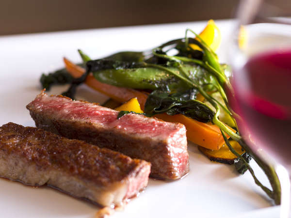 """◆ご夕食UPグレード−山の幸◆メインは<広島牛ステーキ> あなたの舌を唸らせる""""美食の夜"""""""
