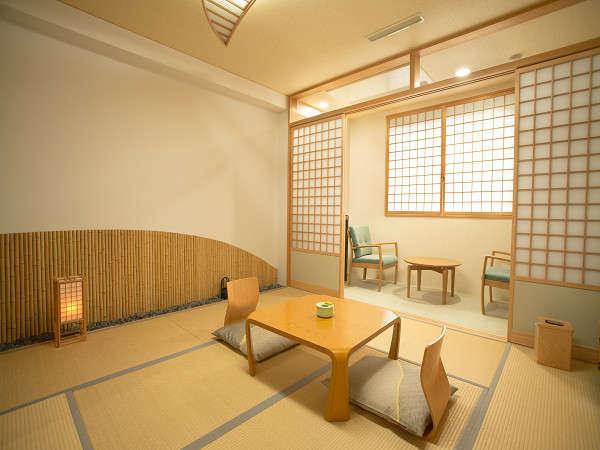 和室(8帖)お二人様からゆったりとお寛ぎいただける広さです