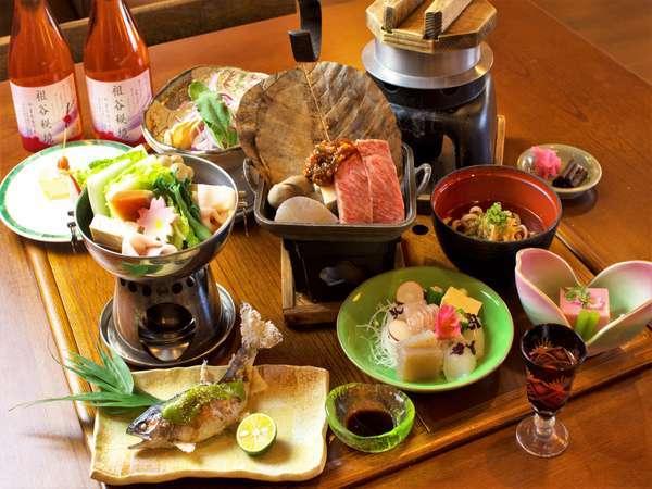 祖谷の郷土料理会席 自慢の地産食材をどうぞお召し上がりください