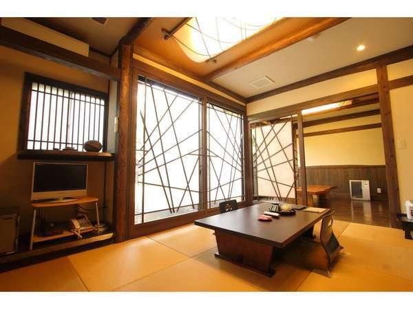和モダンな造りの客室