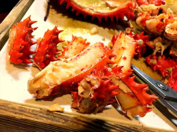 ◆しっかりと身が詰まり脂の乗った花咲蟹は根室ならではの味わいです。