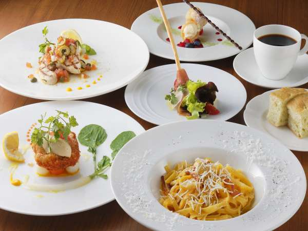 【Dinner Plan】ベルラーゴ イタリアンお気軽コースプラン 〜夕朝食付き〜