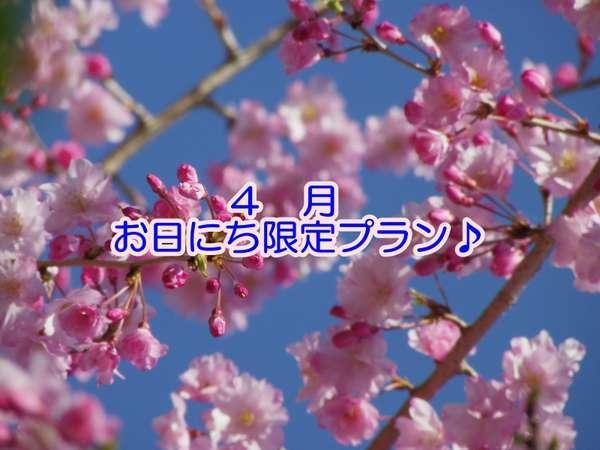 【期間限定】4月☆お日にち限定プラン♪<朝食付>