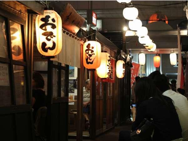 【おたる屋台村◆500円食事券付】レトロな小樽の夜は美味しい料理とお酒に舌鼓♪ 素泊まり