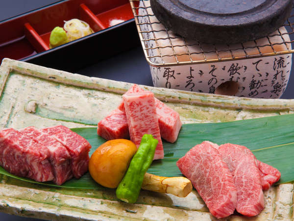 飛騨牛食べ比べステーキ付料理長渾身!特製穂高懐石プラン