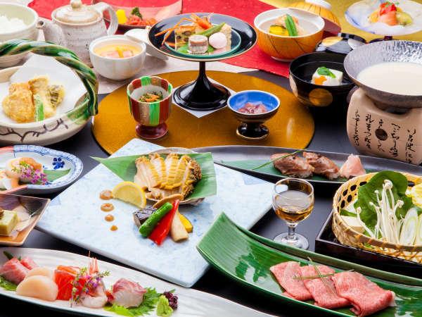 厳選食材と飛騨牛炙り寿司の饗宴。料理長渾身の【特製穂高懐石】