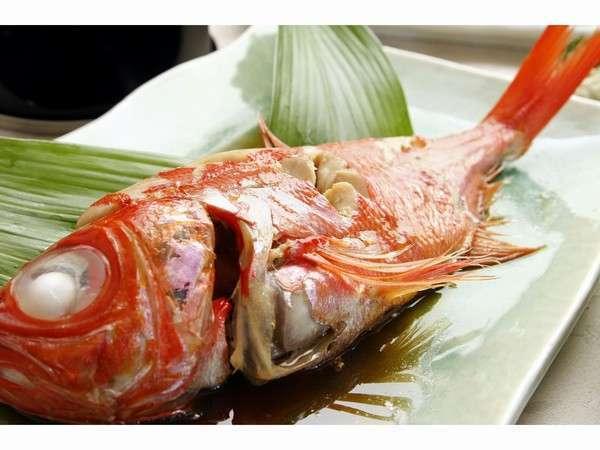 【ペット可】やっぱり定番!特大ふわ ほくの金目鯛姿煮♪と伊勢海老のお造りをお楽しみプラン★