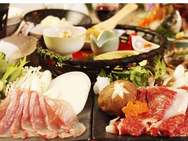 【ペットOK】マーフィで人気の『金目鯛しゃぶしゃぶ』と幻の『伊豆牛のすき焼き』をシェアして楽しむプラン