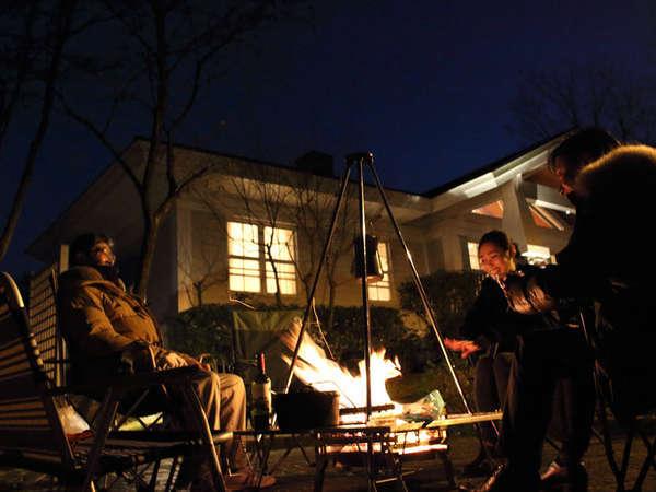 ☆今,話題のグランピング☆宿泊モニタープラン\森のコテージ・焚き火を囲んで盛り上ろう/