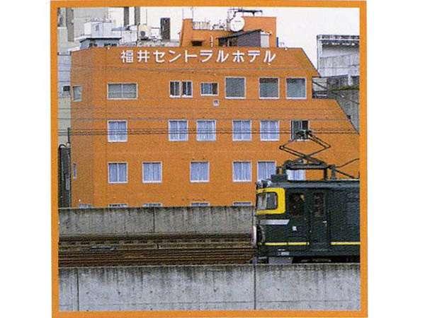 トワイライトエクスプレス♪福井駅に発着する電車が見えるお部屋もあり。