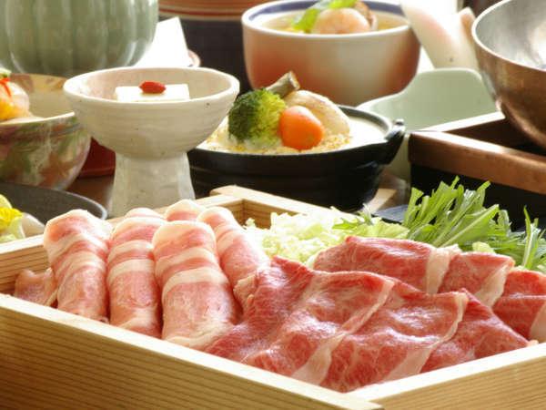 【湯をめぐる山形産牛豚】山形牛&米澤豚のしゃぶしゃぶを個室会食処「蔵膳」で味わう
