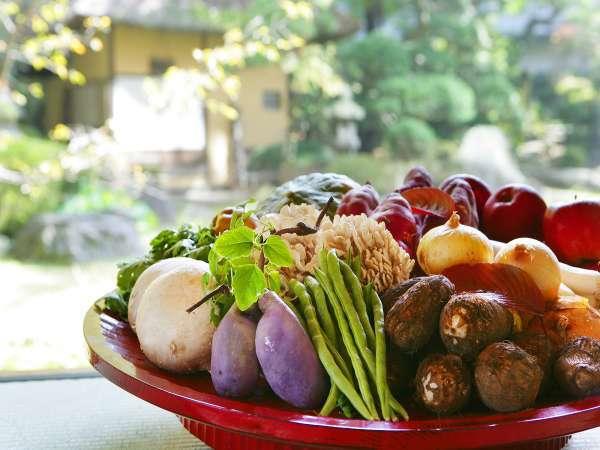 【滝の湯★夏のスタンダード】自社農園の採れたて夏野菜と旬の素材を活かした山形づくし会席
