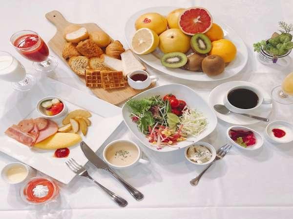 朝食ハーフバイキング_洋食例※全35種以上のメニューを取り揃えております。