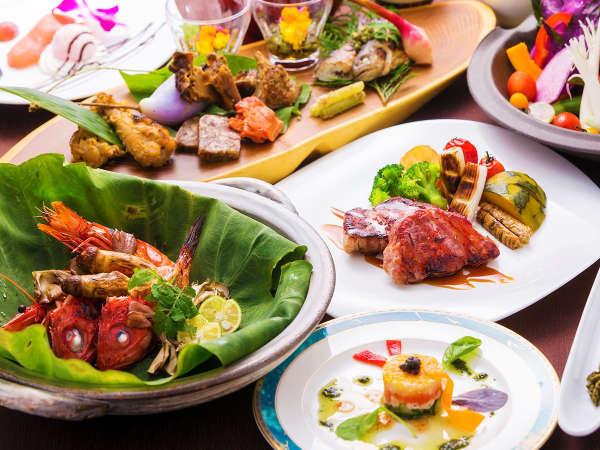 ■─フルコース─■ 季節を感じる<旬の魚料理>×<白金豚ロースト>はお好きなだけ♪