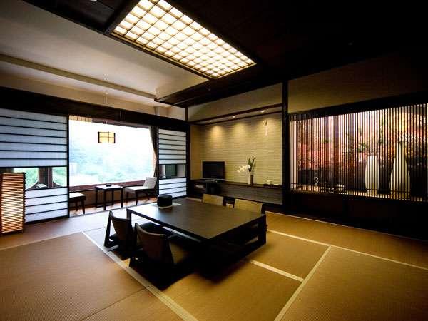 最上階萩晴れフロア客室一例 部屋ごとに趣が異なり、何度も足を運びたくなります