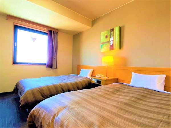 ◆ツインルーム◆ファミリーおすすめ♪小学生以下のお子様は添い寝の対応も承ります。