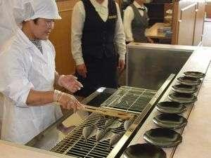【ご朝食】焼き立て鯵の干物