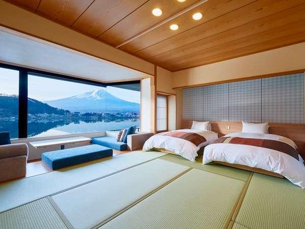 お部屋にいながら富士山。すべてのお部屋から富士山が見える宿。