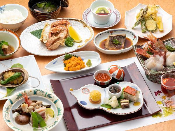 *【宝楽コース:一例】礼文島の贅沢を詰め込んだお料理グレードアップコース