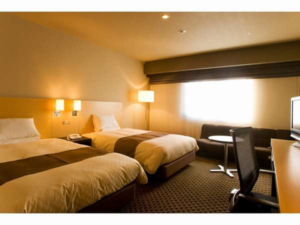 【ツイン・25平米】ベッド幅120cmベッド2台のツインルーム。1名様でもご利用が可能。