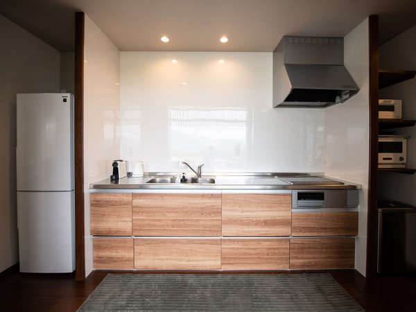 調理器完備オープンキッチン