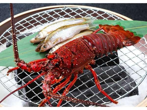 【1泊2食付】近江旬食材を楽しむ和会席 近江牛水晶プレートと伊勢海老炭火焼