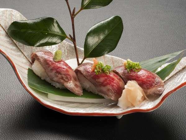【料理グレードアップ】人気の前沢牛を味わう(すき焼き・握り3貫・タタキ付)♪温泉大好きプラン