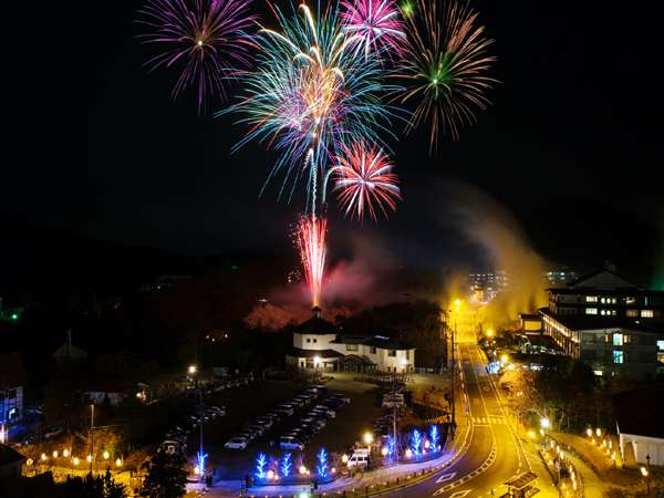 〔雲仙灯りの花ぼうろ〕2月の土曜日に上がる打ち上げ花火