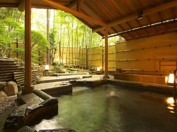 有馬温泉の金泉、銀泉を無料貸切露天風呂