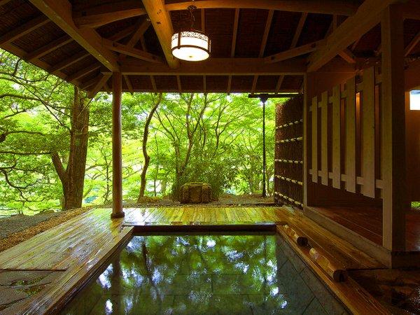 3,000坪の湯殿ならではの開放感。貸切露天風呂、隠れ湯「薫風」 写真提要:じゃらんnet