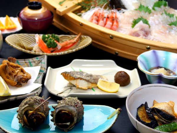 当館一番人気!豪華舟盛り付き新鮮地魚会席☆彡お腹いっぱいになること間違いなし!!