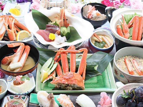 冬◆「蟹尽くし懐石〈キング〉」では冬の日本海の王様、松葉蟹をたっぷりご賞味あれ!