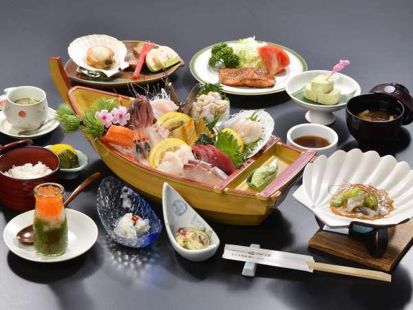 【当館イチオシ】お刺身10種+浜料理を堪能!近江屋スタンダードプラン-ご夕食一例-