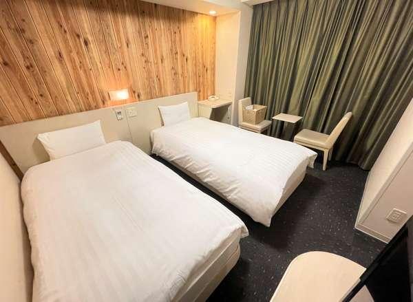 ◆【客室】『ツインルーム』 広さ17.3平米 ベッドサイズ横100cm×縦205cm(2台)