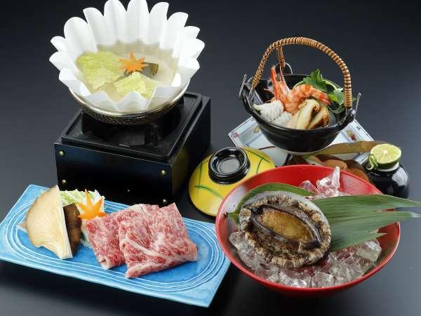 【お料理グレードアップ】神戸牛しゃぶ+松茸土瓶蒸し+国産鮑踊り焼 「秋の味わい会席プラン」(夕部屋食)