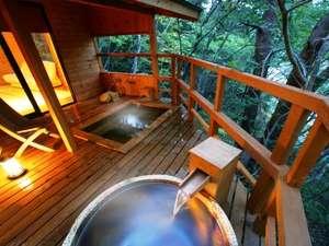 *個室貸切露天風呂『自然浴離れの湯・あけび』