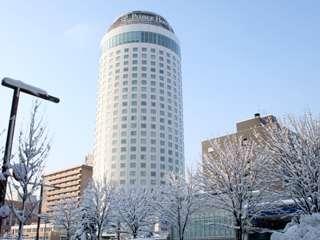 冬の札幌プリンスホテルタワー