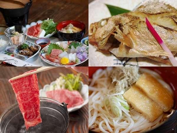 信貴館1番人気の「氷見尽し御膳」新鮮なお刺身はもちろん旬の焼き魚・氷見牛・氷見うどん