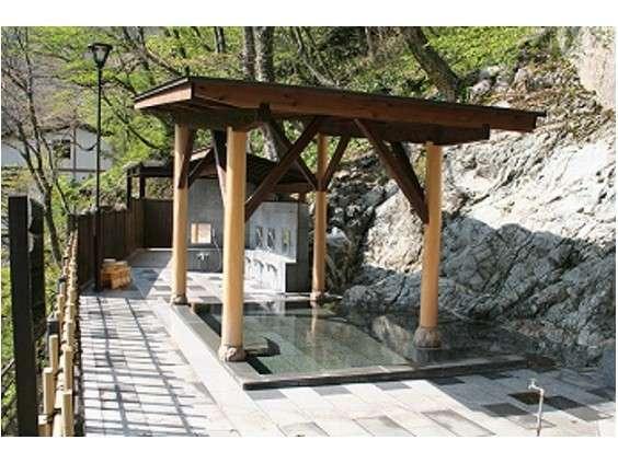 渓谷を望む絶景の女性露天風呂
