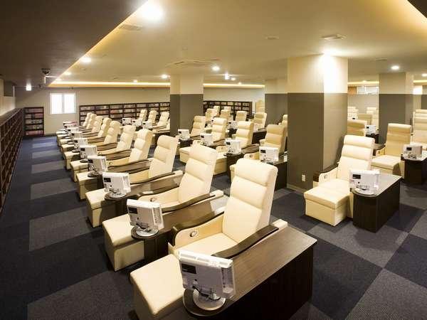 【リクライニングルーム 】■テレビ席50席■マンガ本約15000冊■八波亭のお食事がお席でも楽しめます。
