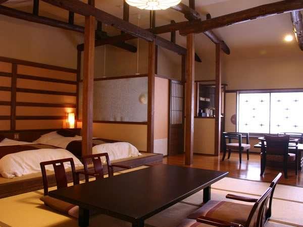【泉游亭「さくら」指定プラン】高めの天井に梁が印象的なワンフロアーのデザイナーズルーム
