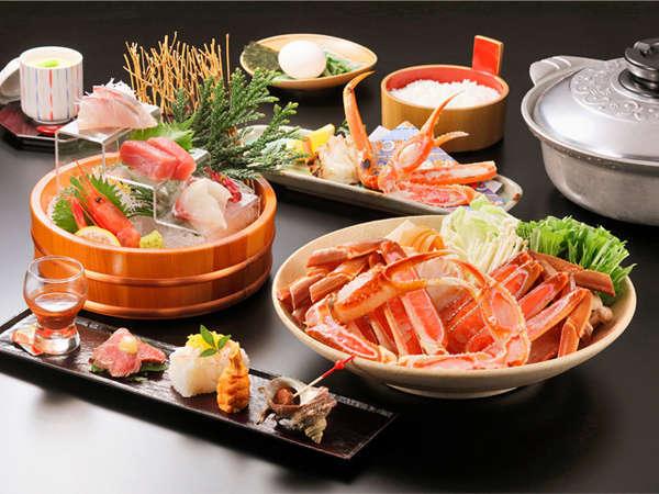 《1泊2食付》【蟹出汁たっぷり!!〆は雑炊で♪】蟹すき鍋コース
