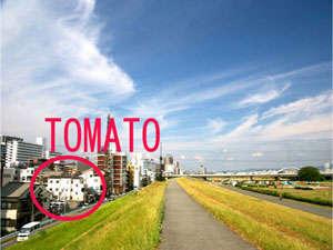 大阪とまとゲストハウスの外観