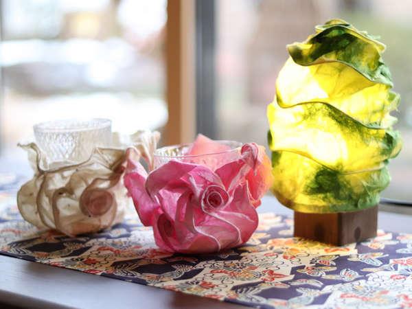 世界に1つだけの「華灯り」アートランプ制作体験付プラン