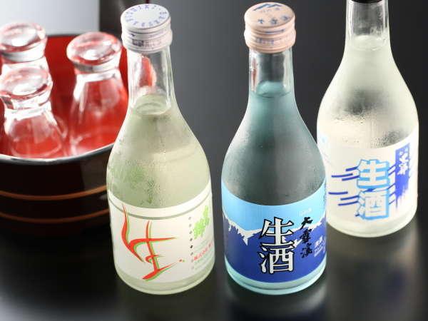 【地酒飲み比+夕食個室】北アルプスの名水仕込みの地酒をお楽しみください。【信州山ごはん・地酒】