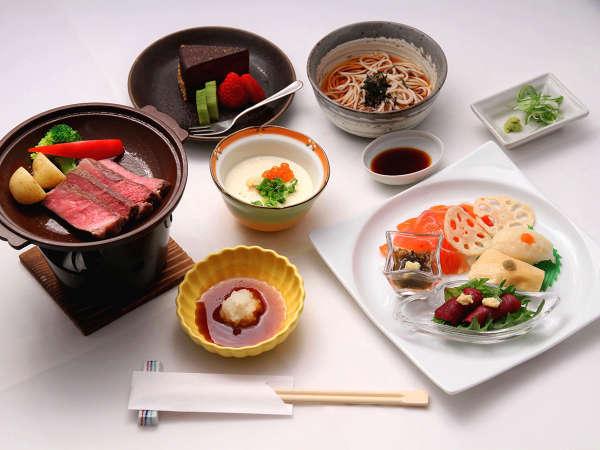 ・【夕食一例】季節の食材を使った和食中心のメニューです