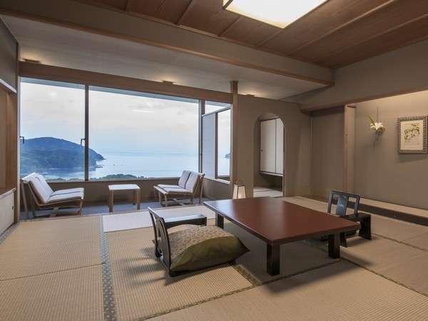 「白蝶館あこやタイプ」12.5畳に前室、広縁、お召し替えの間がついた61平米の純和室。
